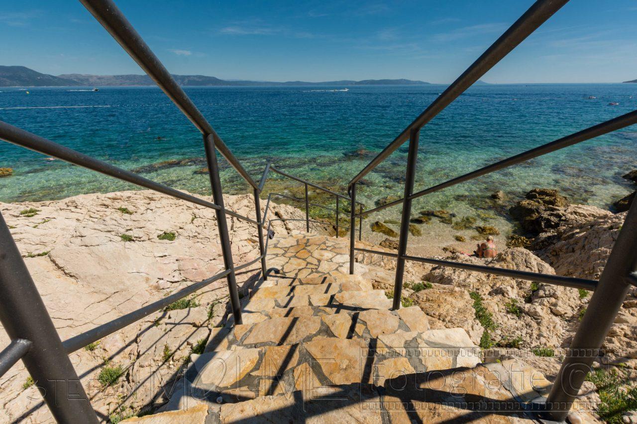 Kueste von kroatien istrien bei rabac