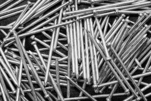 naegel,nahaufnahme,macro,details,struktur,schwarz weiss,metall