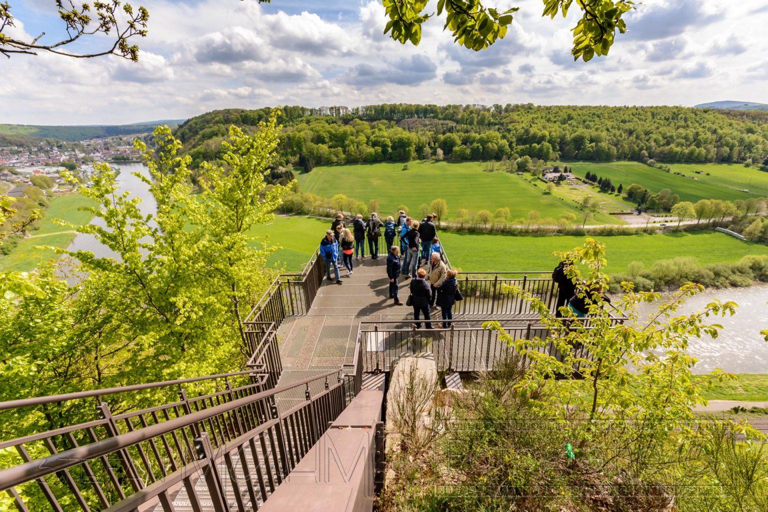 Weserbergland, Wanderung rund um den Skywalk.