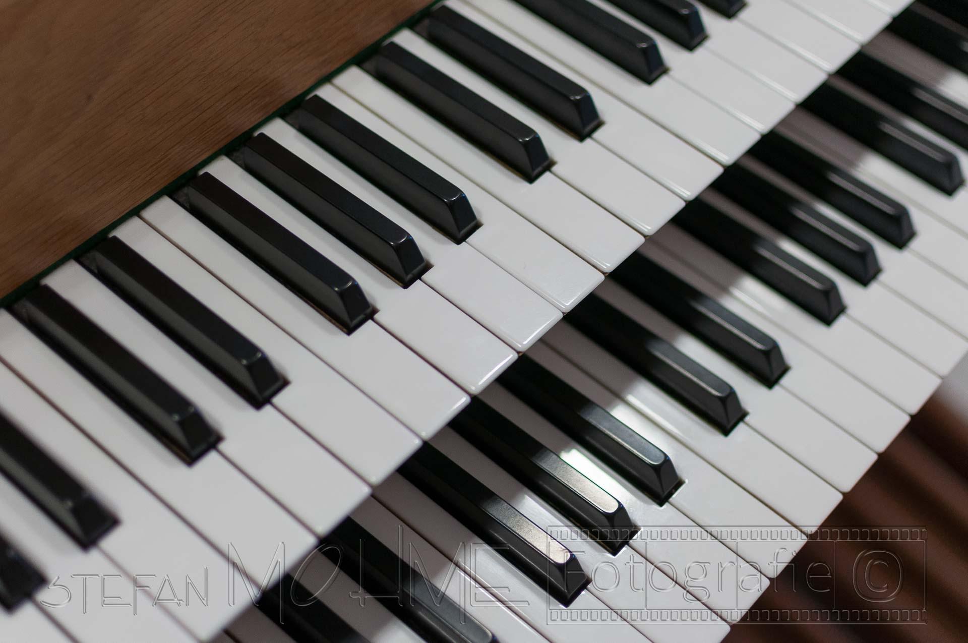 Nahaufnahme,orgeltastatur