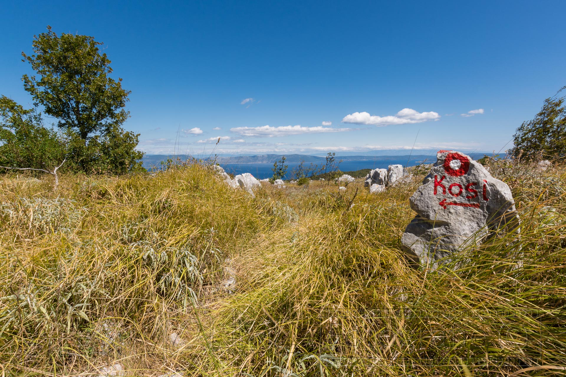 Wanderung auf Istrien, Kroatien, Halbinsel Koromacno.