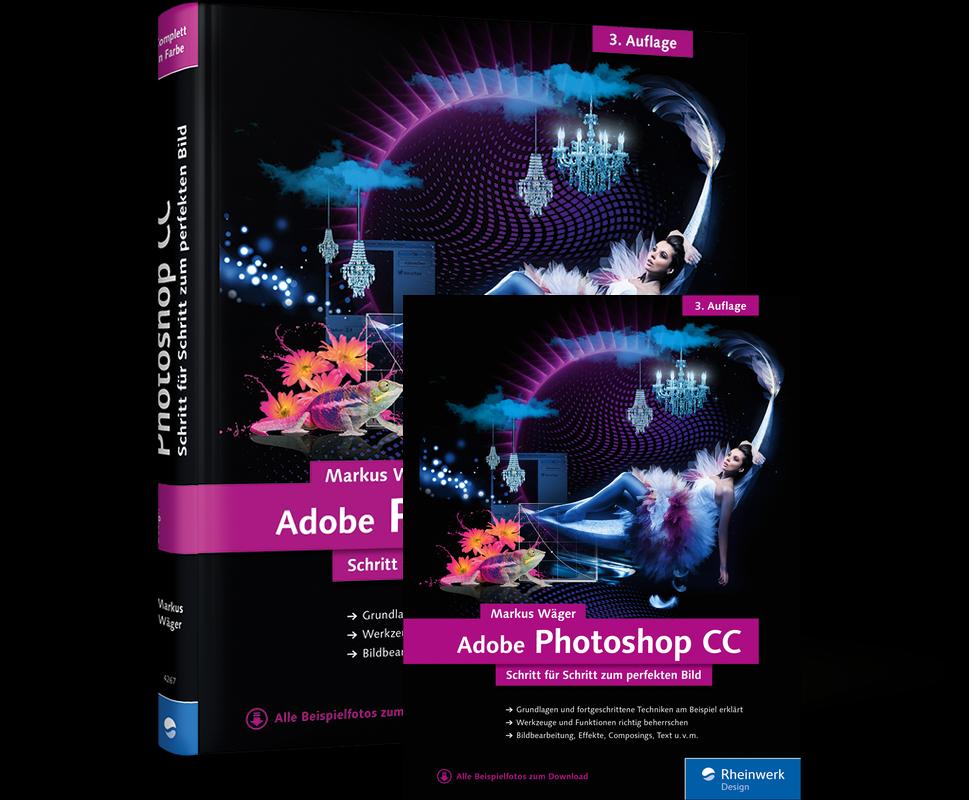 """Buchrezension; """"Adobe Photoshop CC Schritt für Schritt zum perfekten Bild""""."""