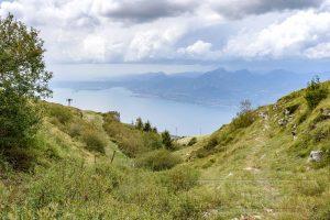 Landschaft,wiese,berge,himmel,wolken,mt. Baldo