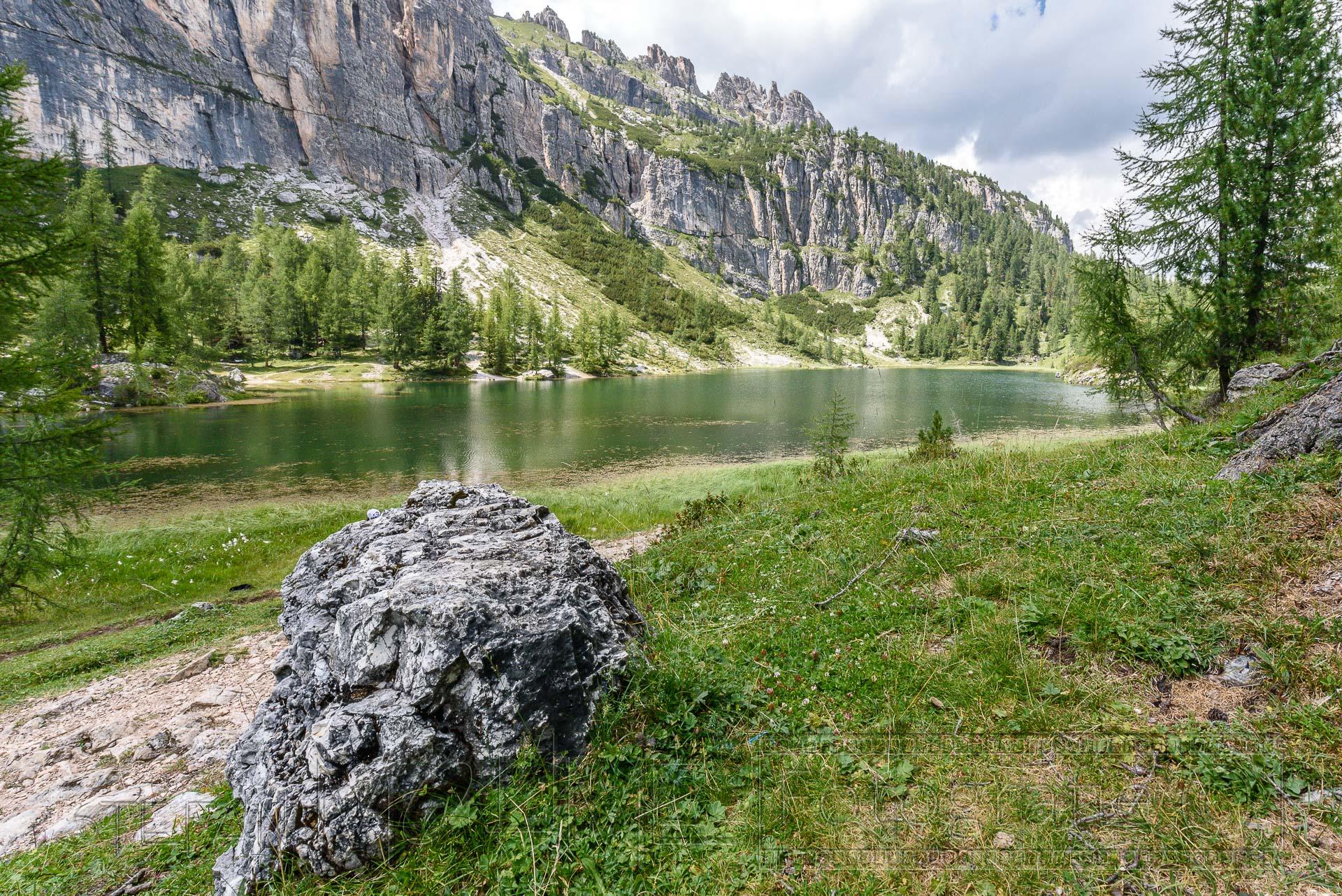 Wanderung in den Dolomiten, rund um den Federasee.