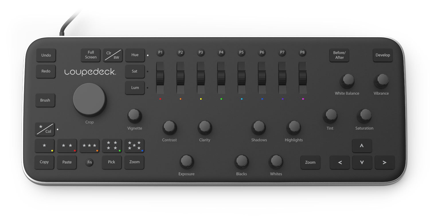 Loupedeck, Control Panel für Lightroom.