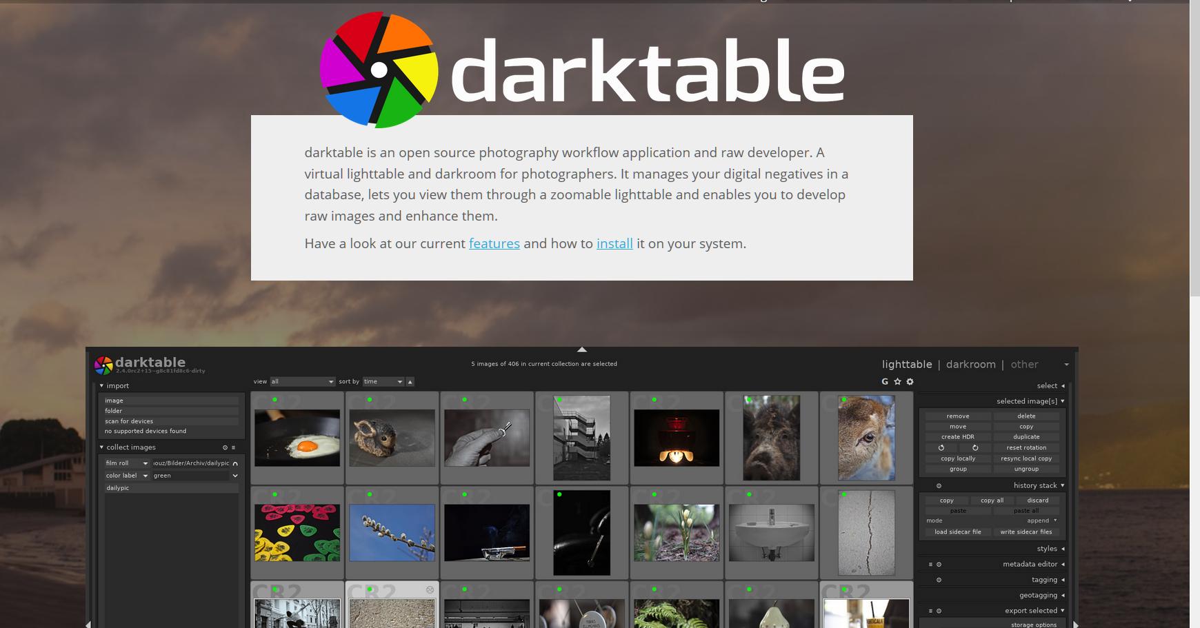 Darktable jetzt auch für Windows verfügbar.