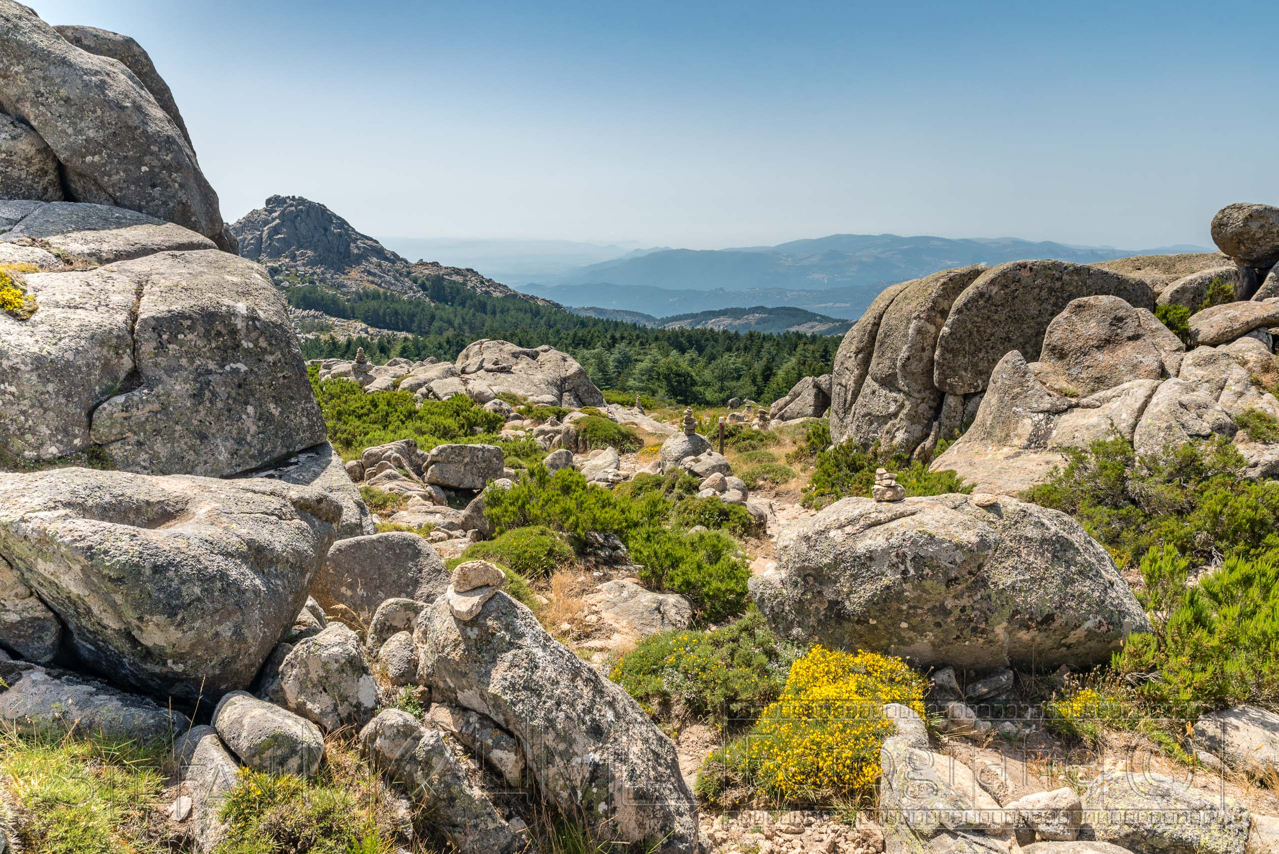 Umrundung des Monte Limbara auf Sardinien.