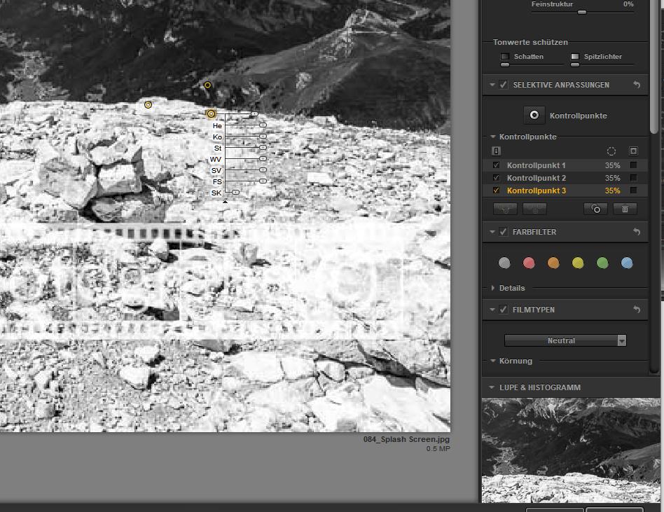 Screenshot Nik Silver Efex
