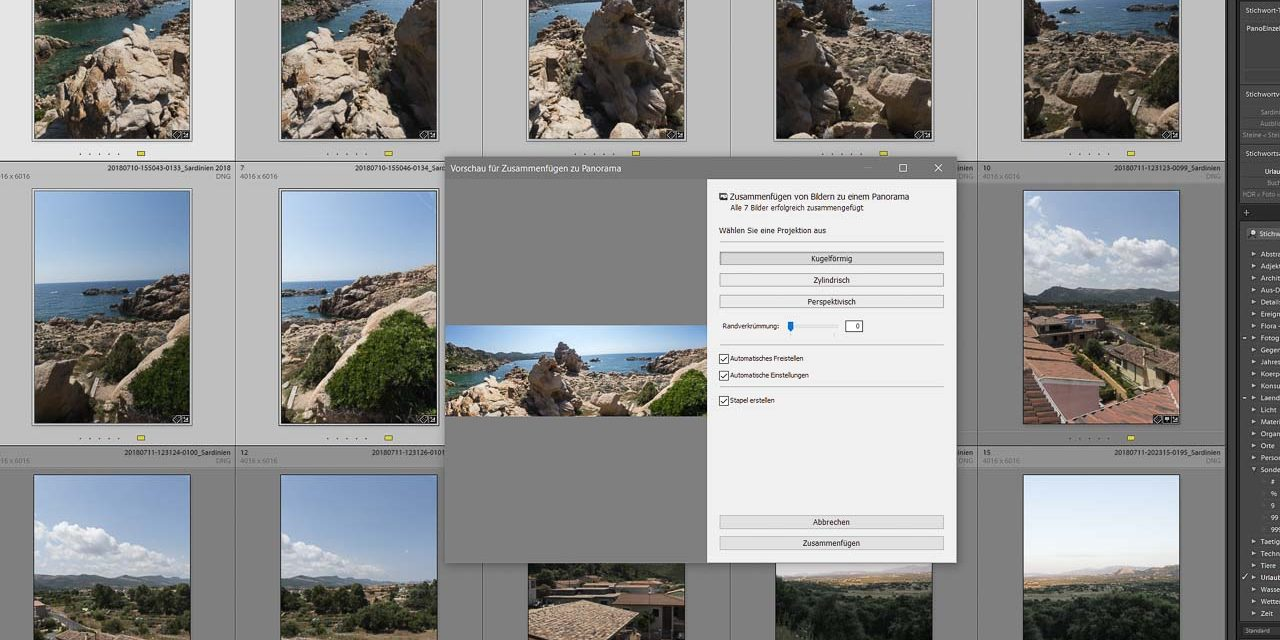 lightroom, panoramadruck