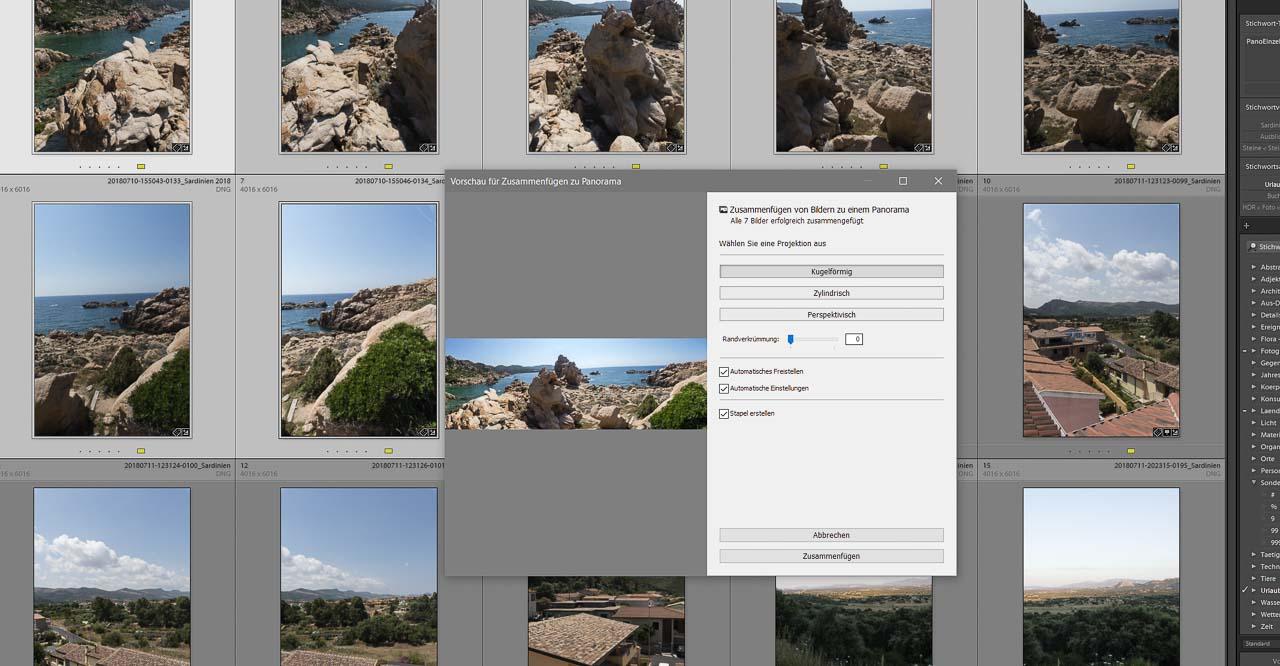 Panoramen in Lightroom selbst erstellen, vom Foto zum Druck.