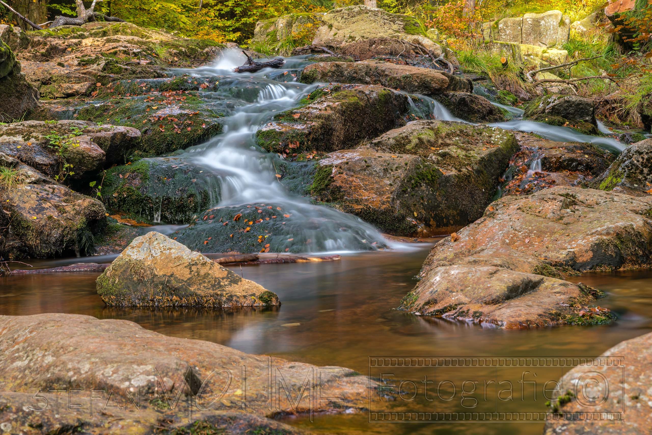 harz,landschaft,natur,,wald,baeume,blaetter,wasser,fluss,graufilter,langzeitbelichtung
