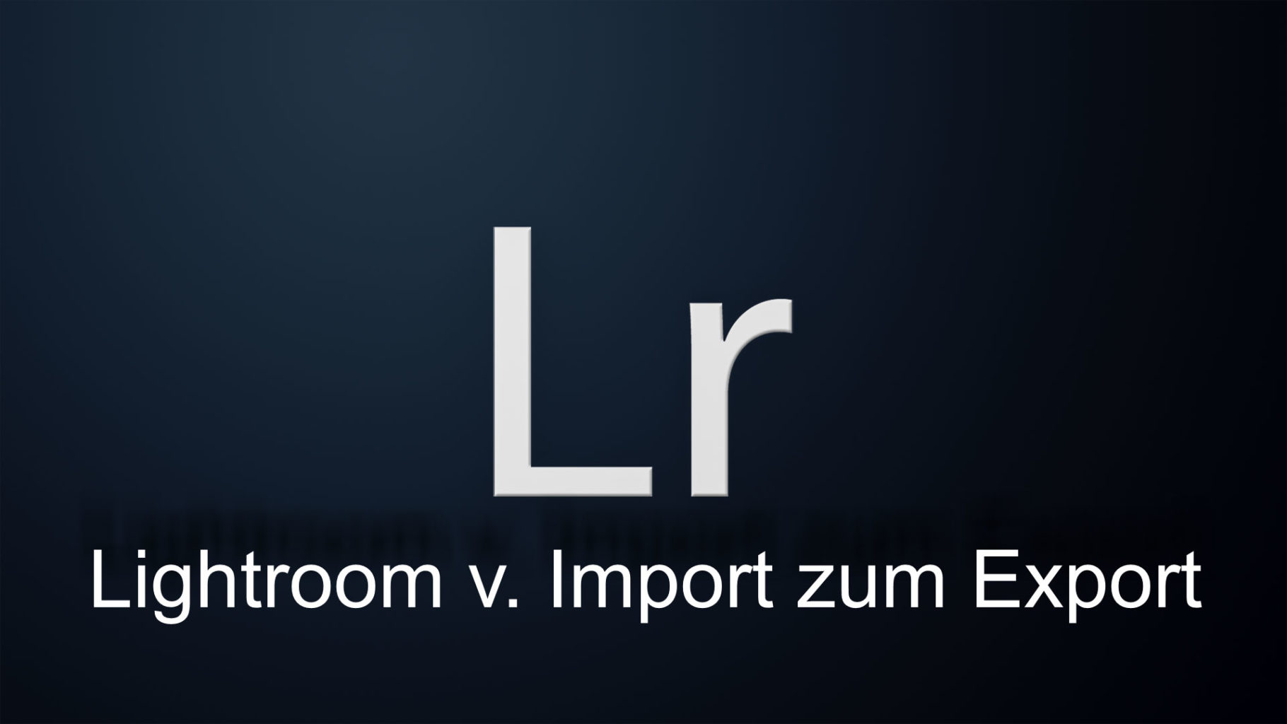 Lightroom, vom Import zum Export, Teil 3, der Katalog.