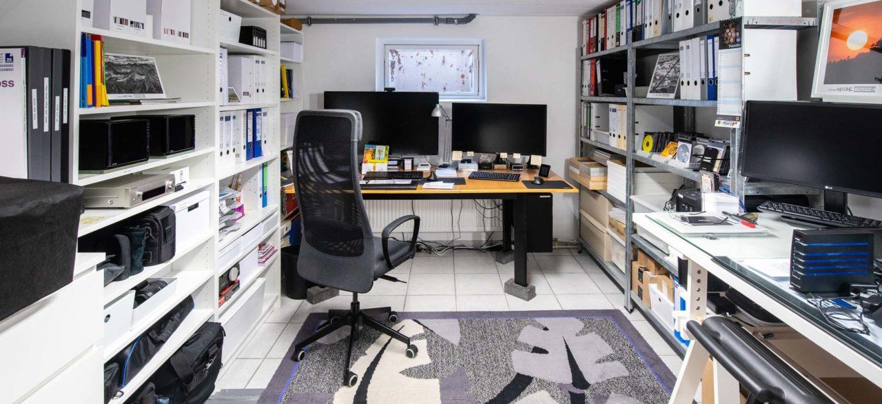 Fotokeller endlich renoviert, mein neuer Arbeitsplatz für Fotodruck!