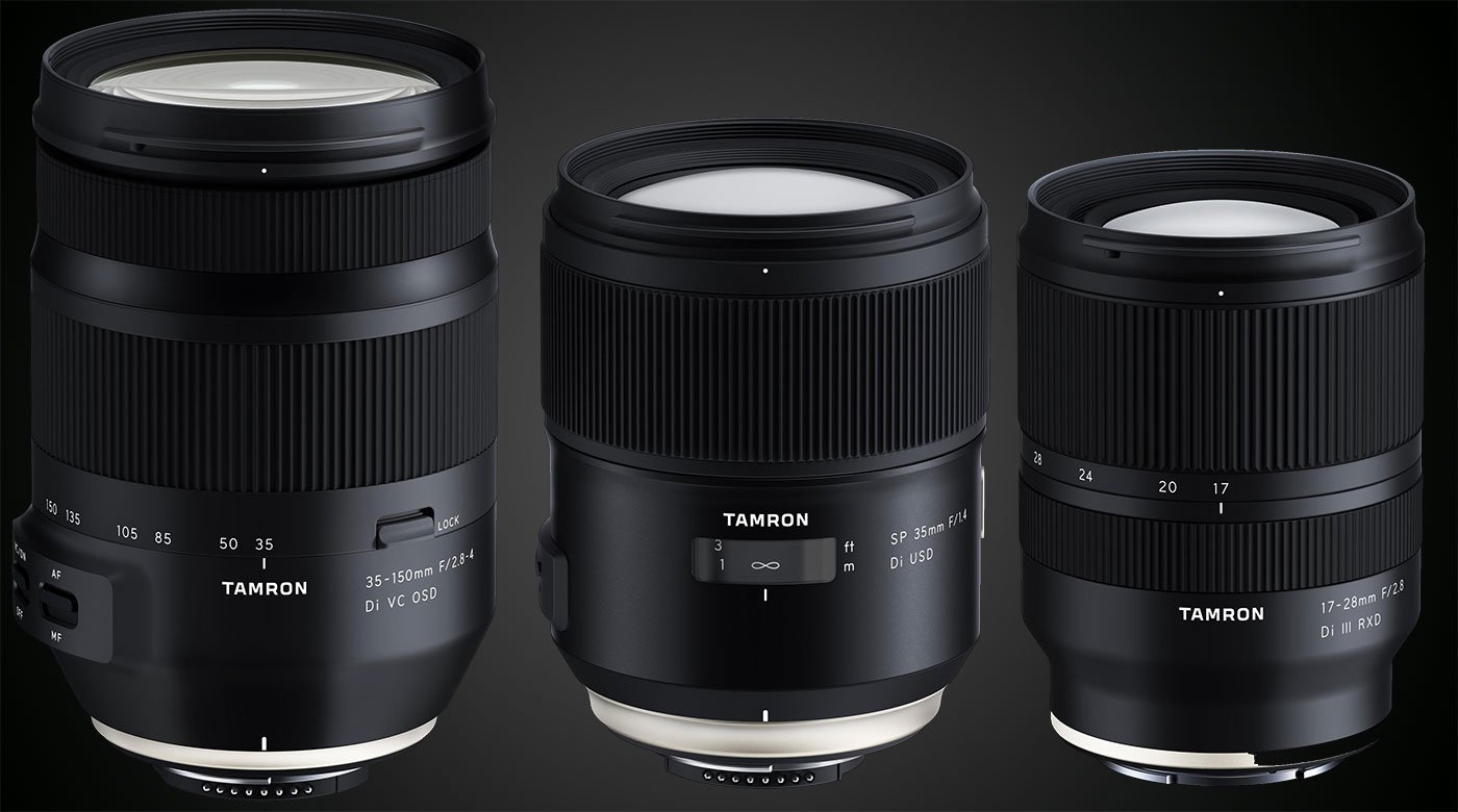 Tamron kündigt drei neue Objektive an.