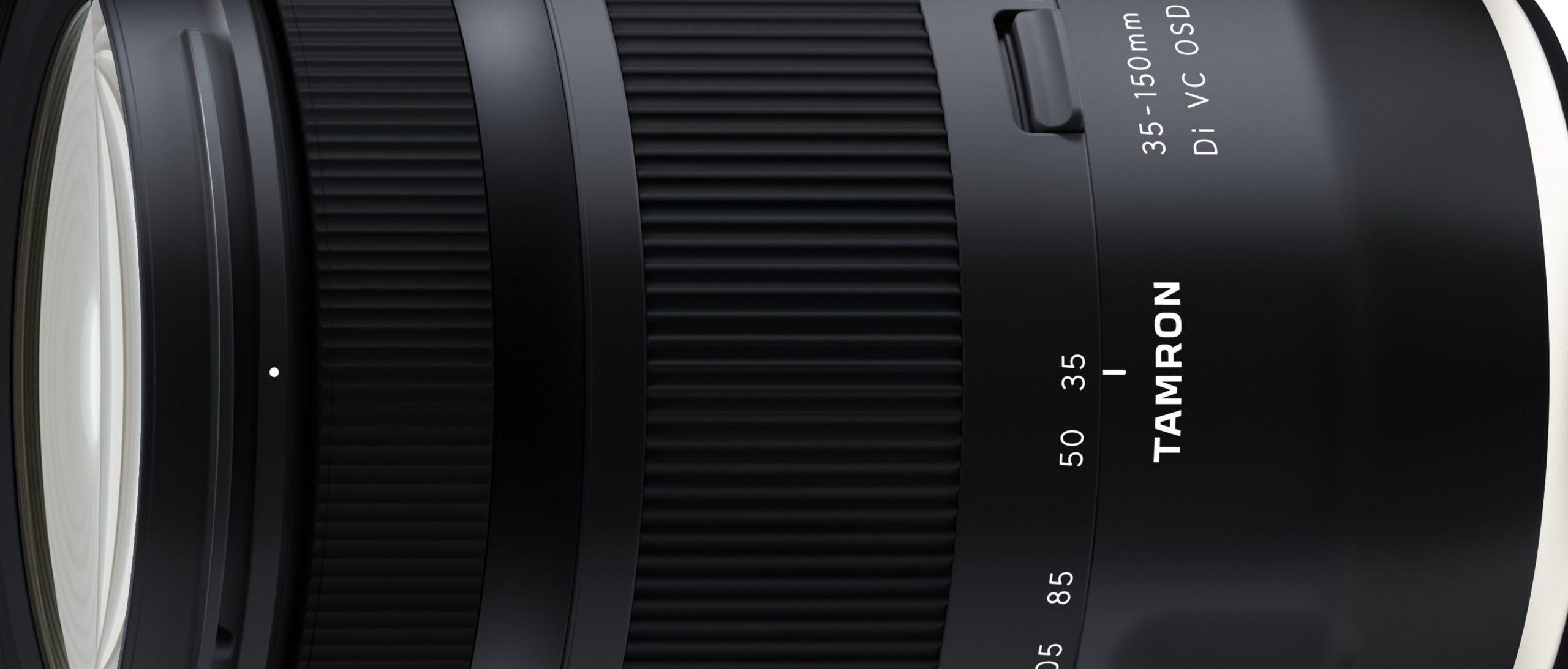 Tamron kündigt 35-150mm F2.8-4 Di VC OSD für Mai an.