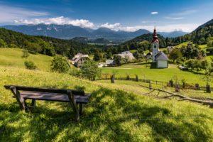 Slowenien Landschaft um Bled