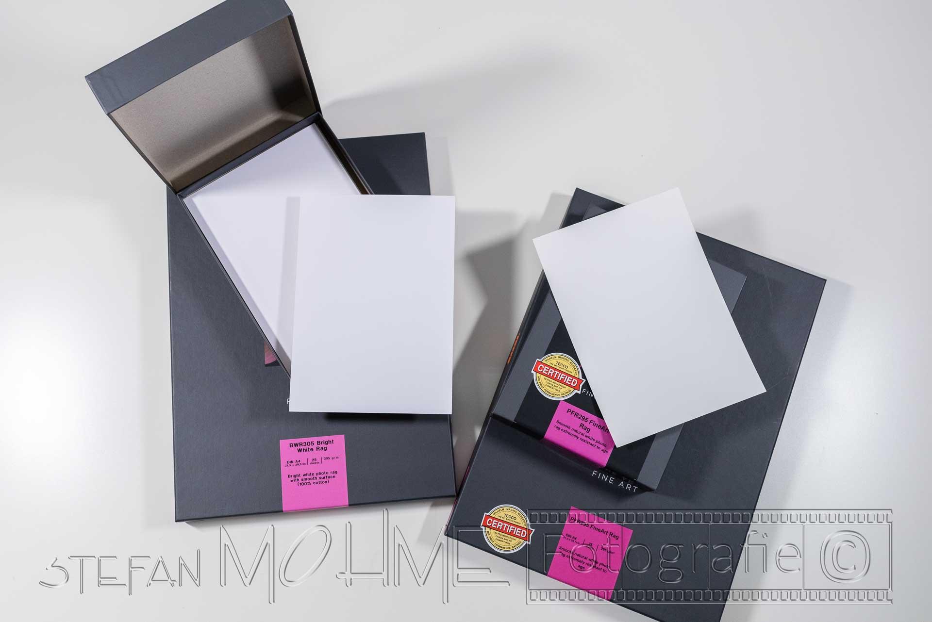 Fotopapier von Tecco mit Verpackung