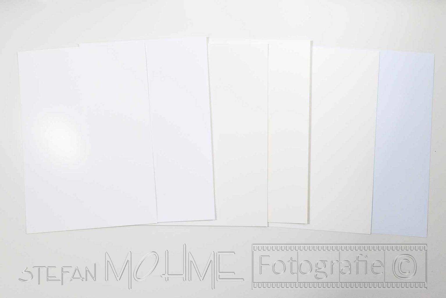 Fotopapier,viele,verschiedene,Papiere