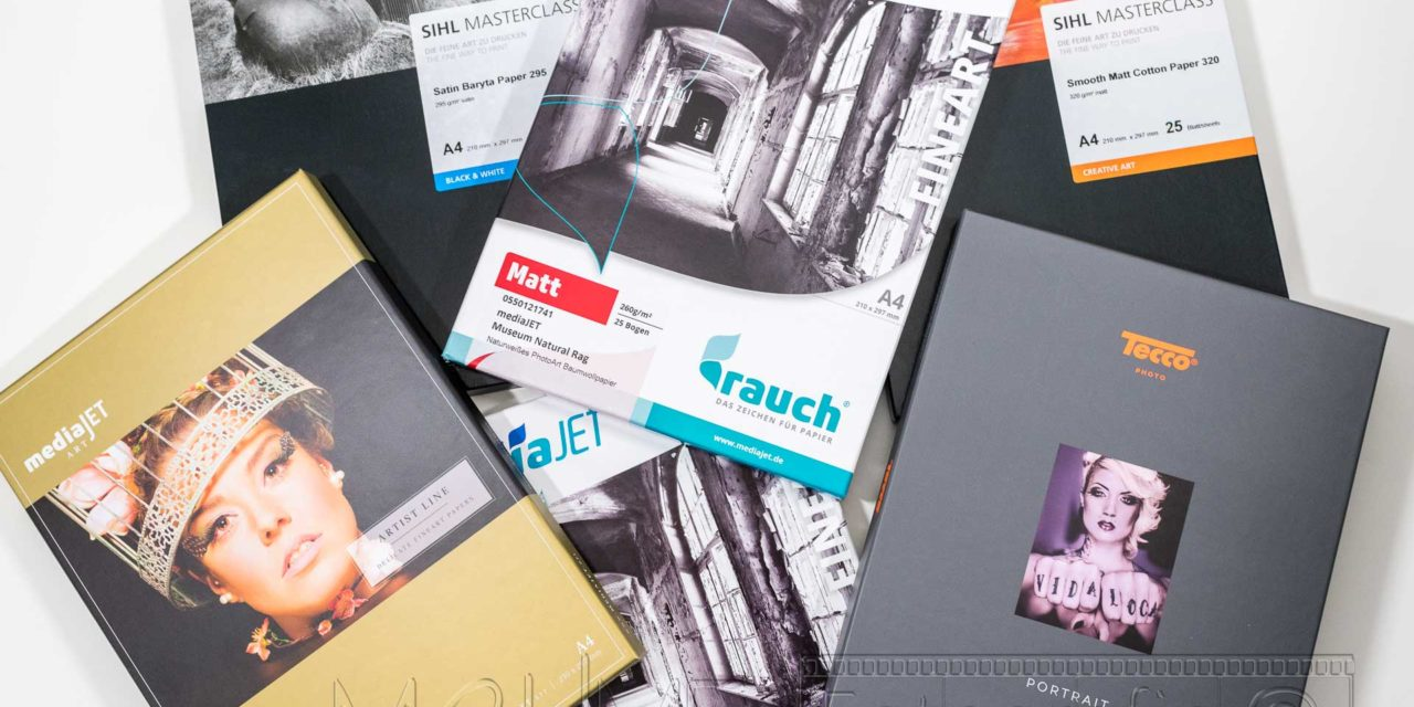 Viele verschiedene Fotopapier Verpackungen