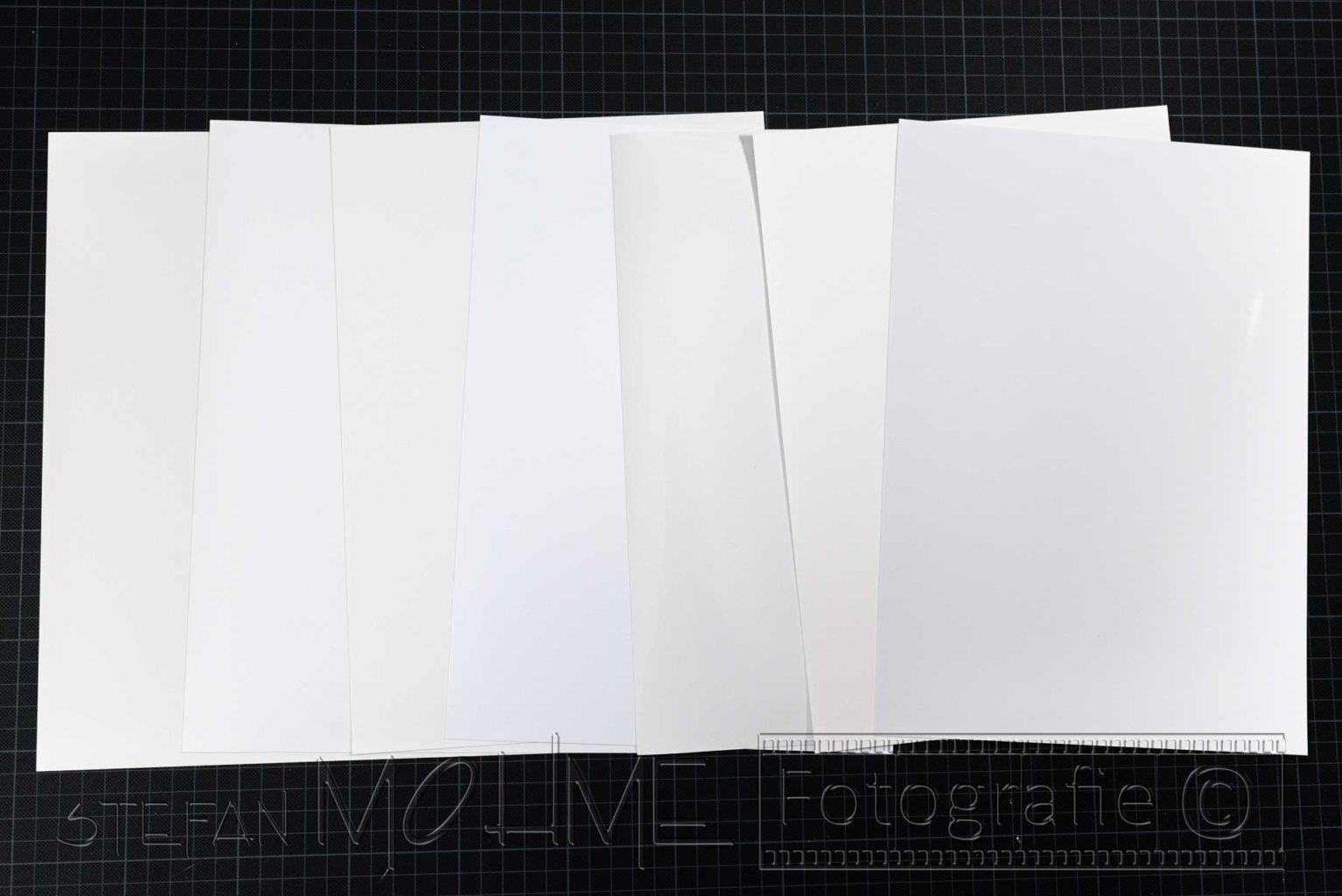 Verschiedene Fotopapiere