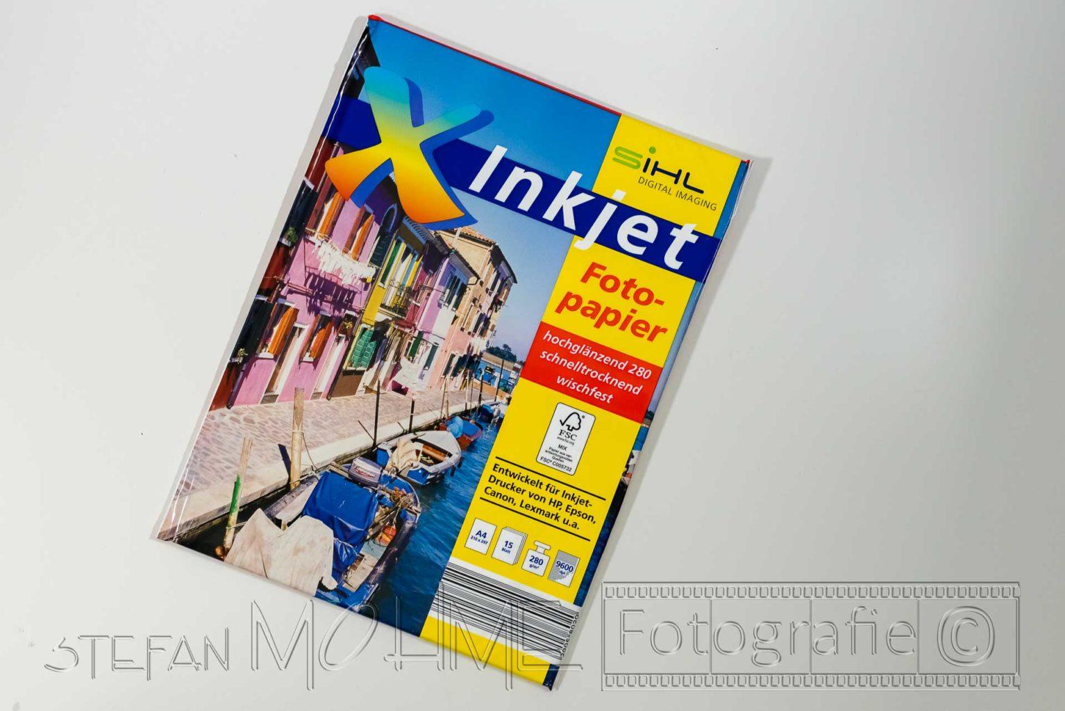 Fotopapier verpackt