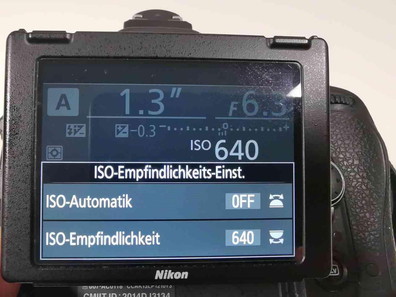 Nikon ISO Menu