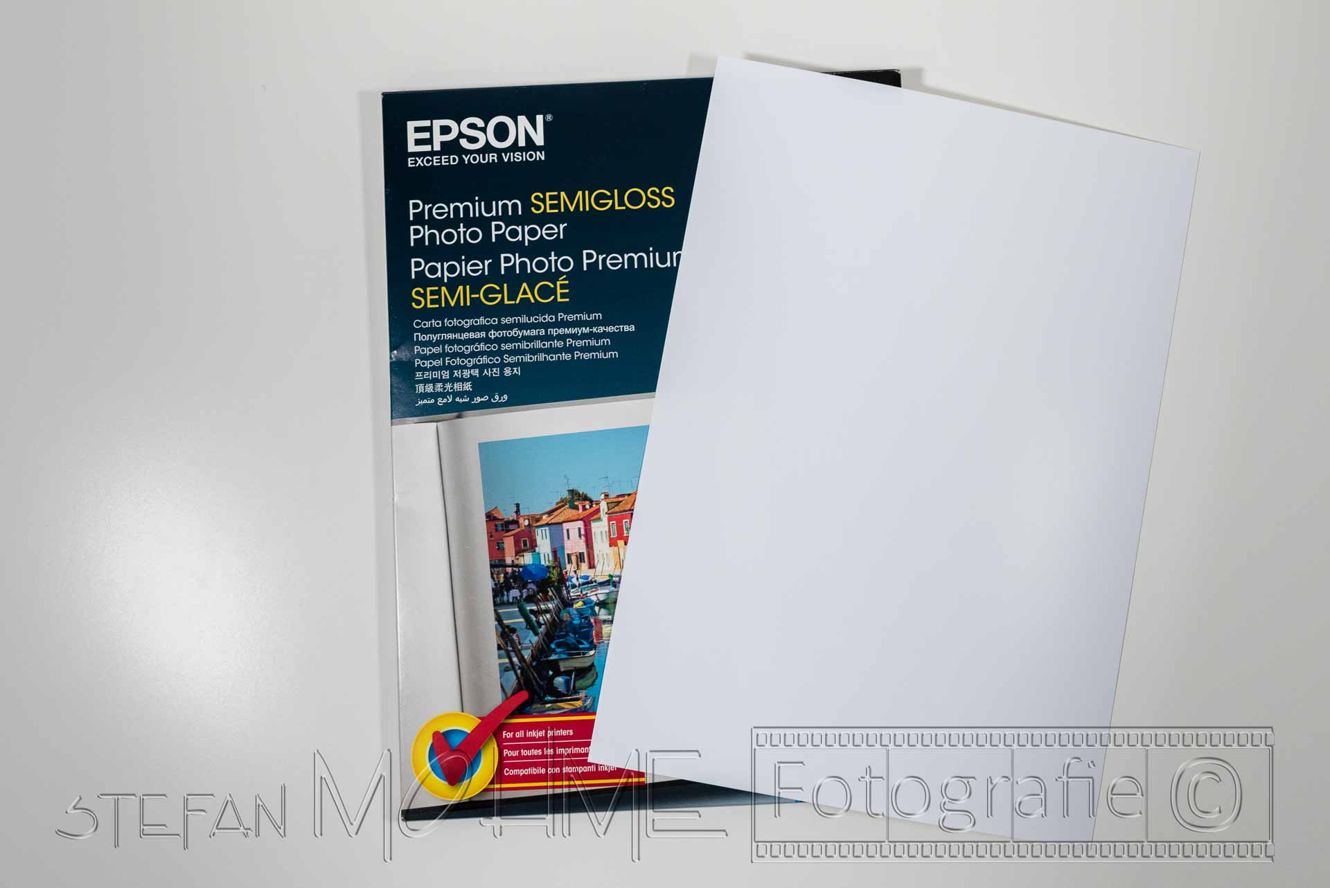 Fotopapier Verpackung und Blatt