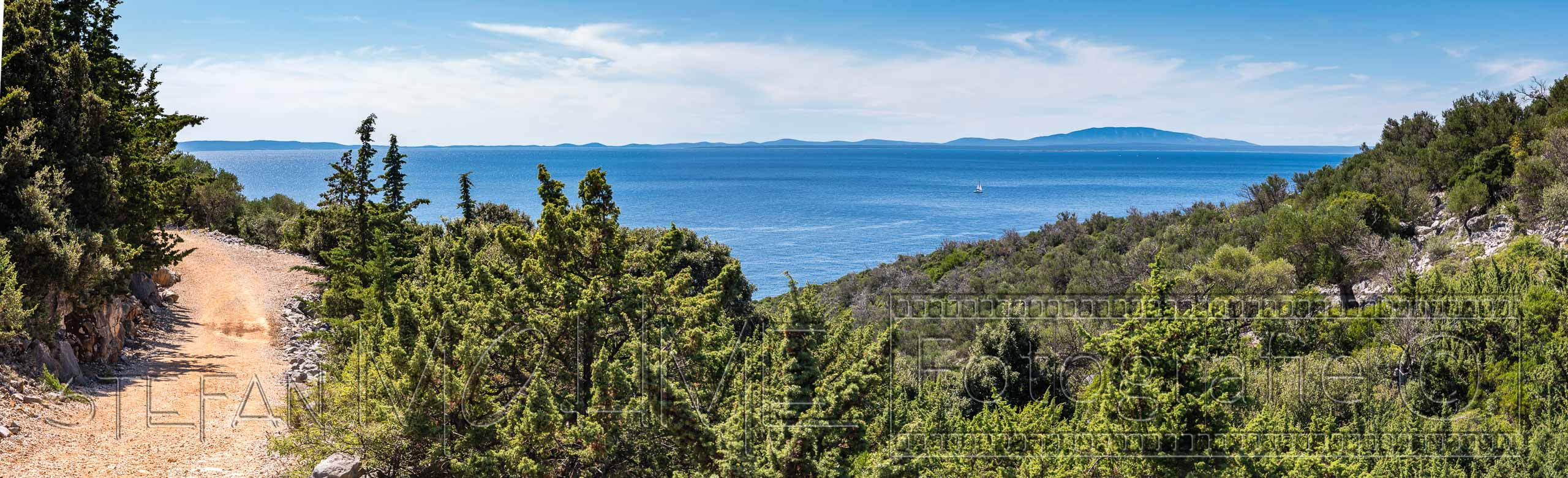 Panorama Landschaft Insel Pag