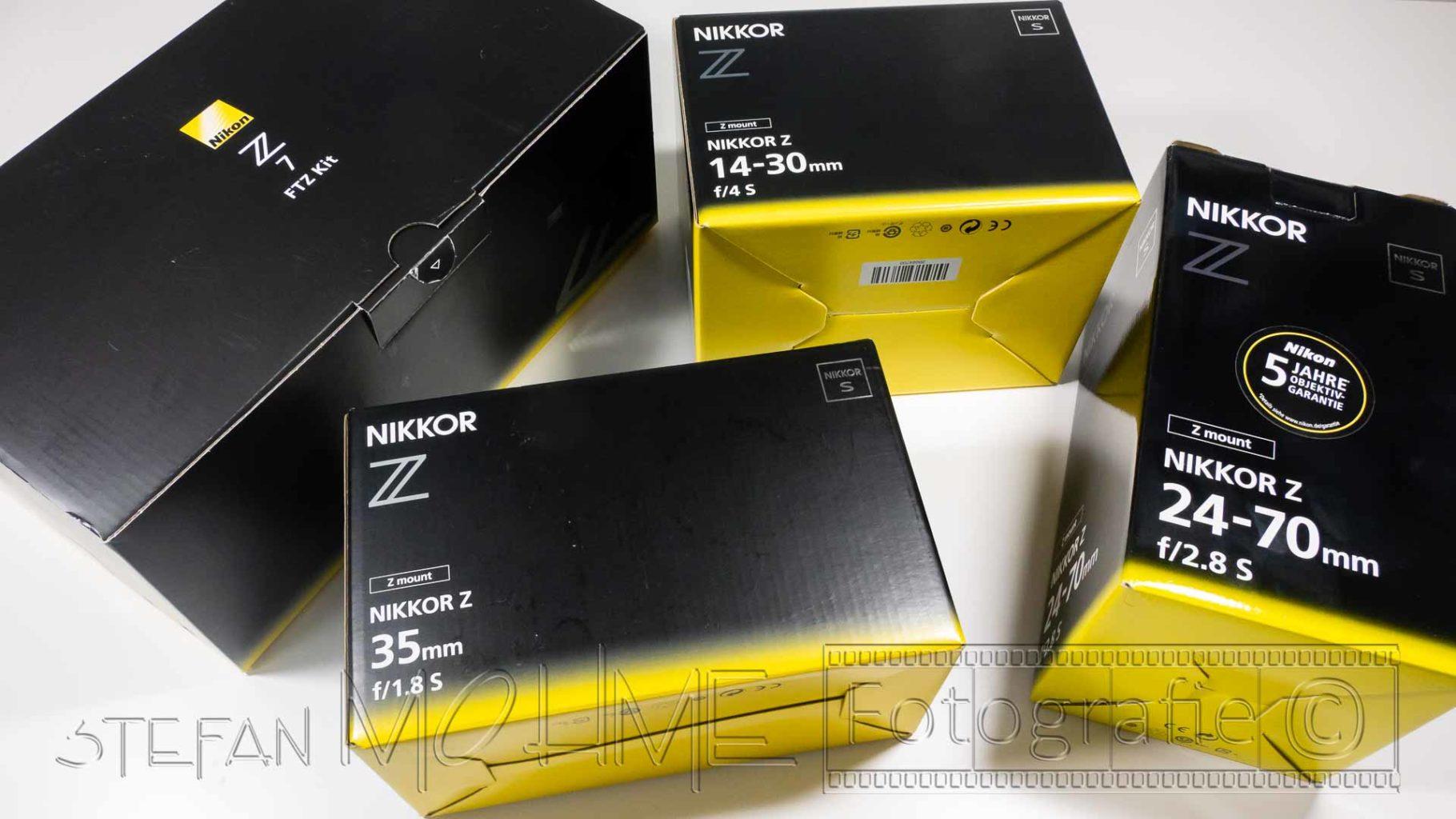 Nikon Verpackungskartons