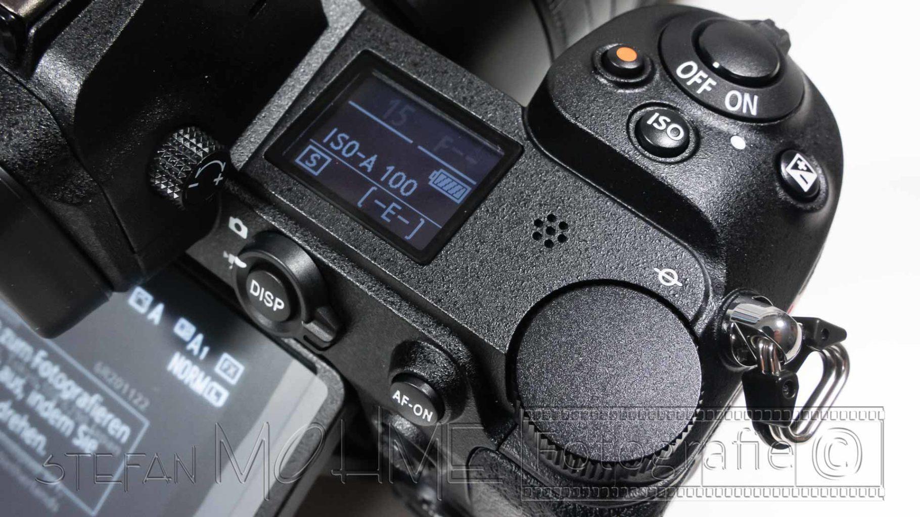 Nikon z7 Oberseite Display