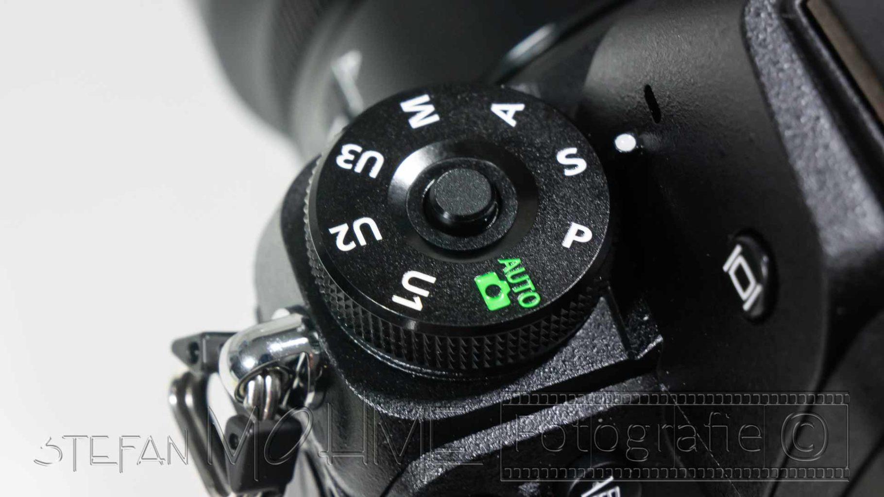 Nikon z7 Programmwahlrad Nahaufnahme