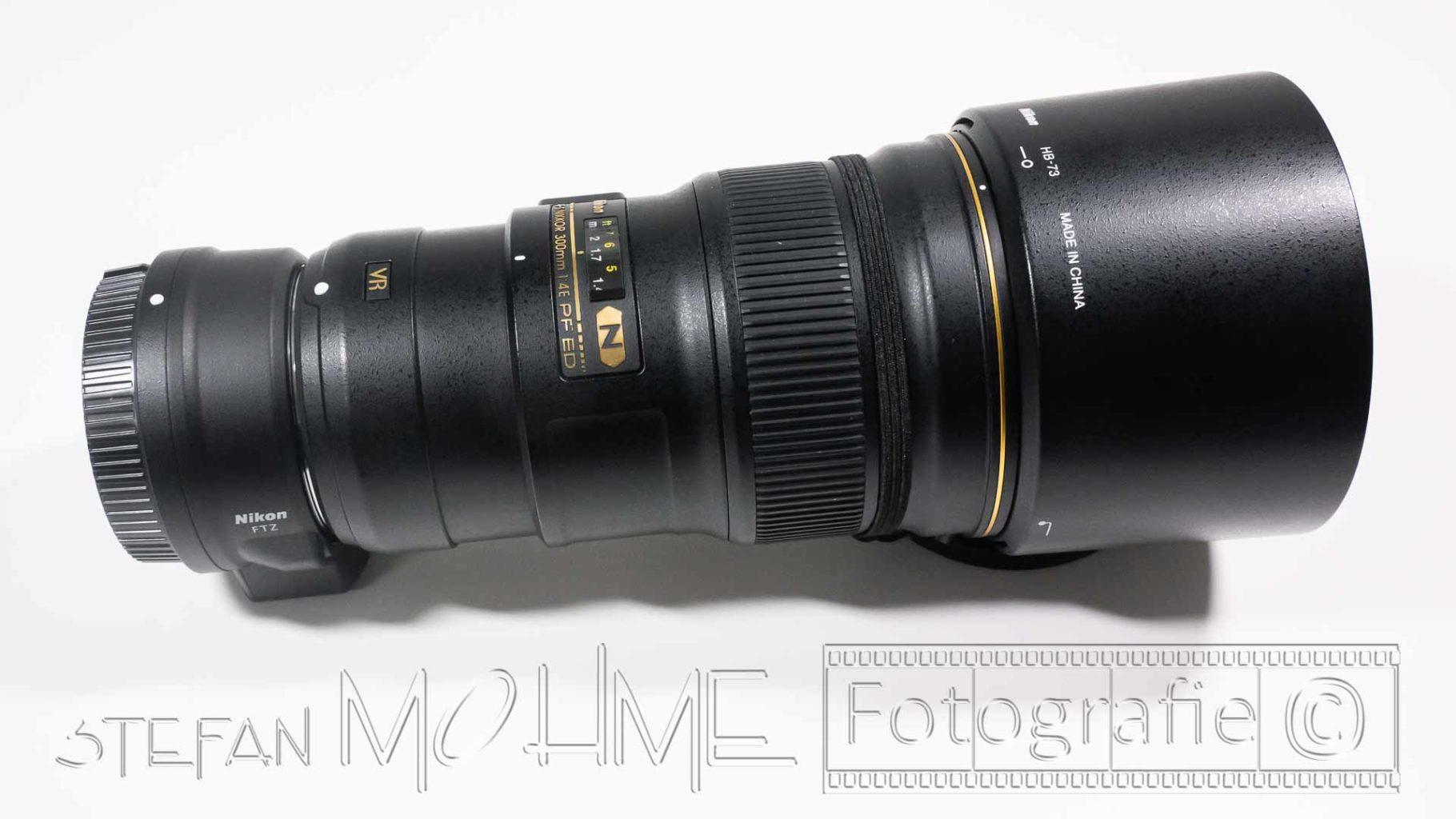 Nikon 300mm F/4.0 und FTZ Adapter