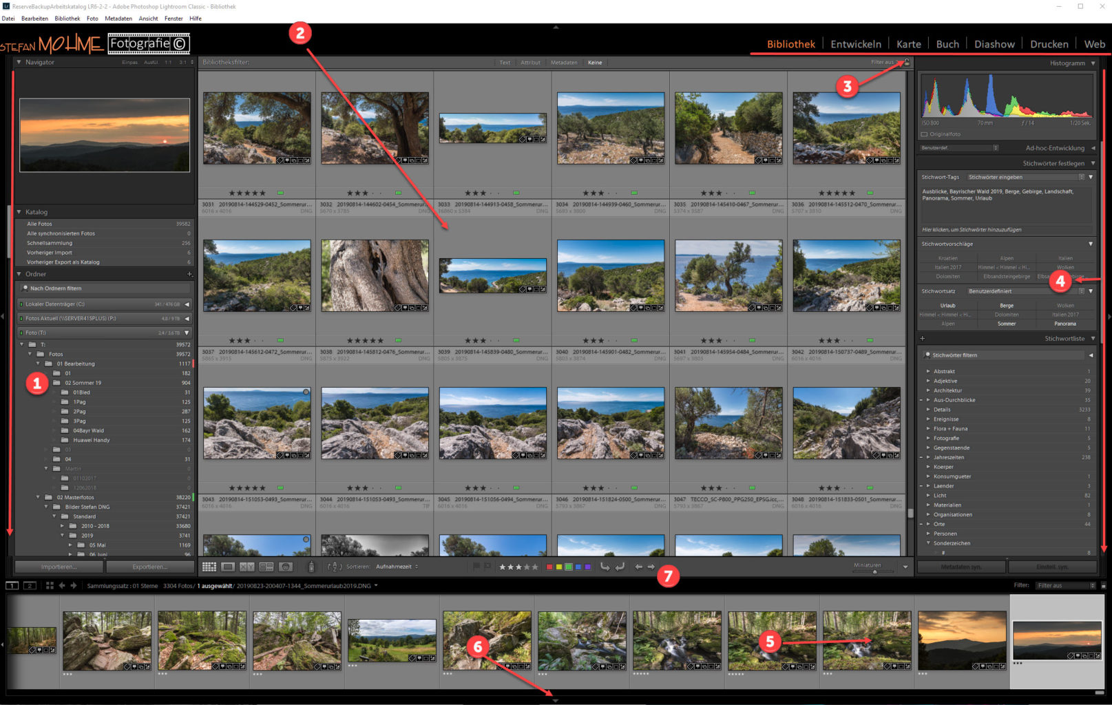 Lightroom Screenshot Bibliothek