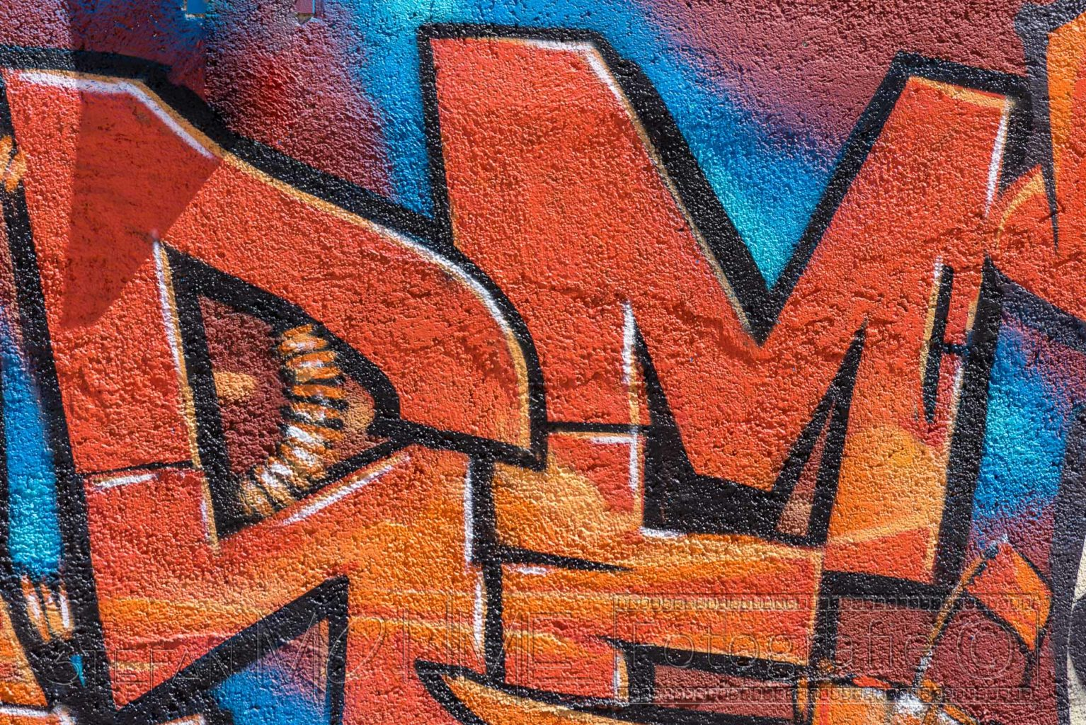 Grafitti bunt Nahaufnahme