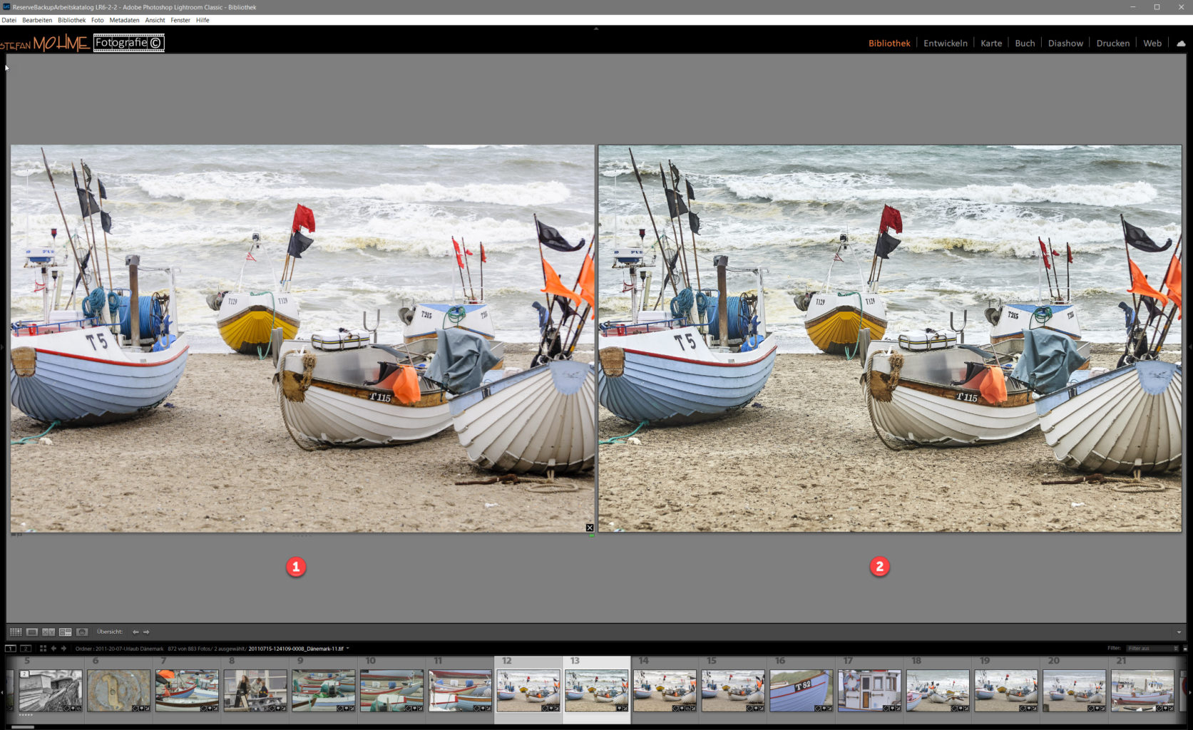 Capture One Bildvergleich Lightroom screenshot
