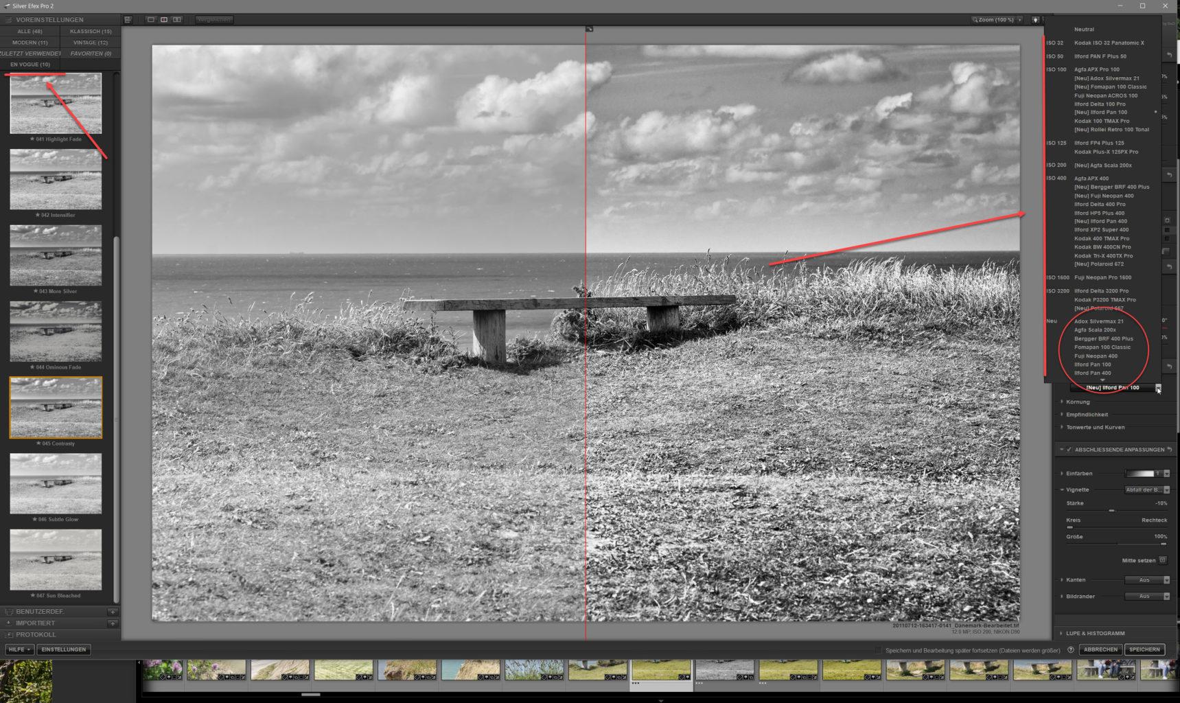 Nik SilverEfex3 Screenshot Neuheiten