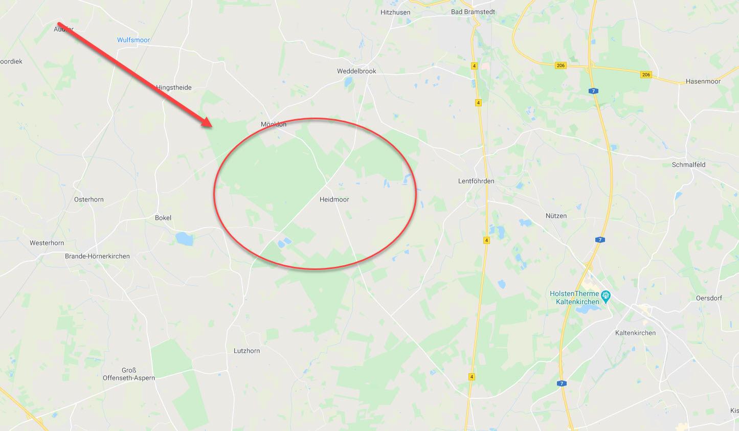 Landkarte Schleswig Holstein