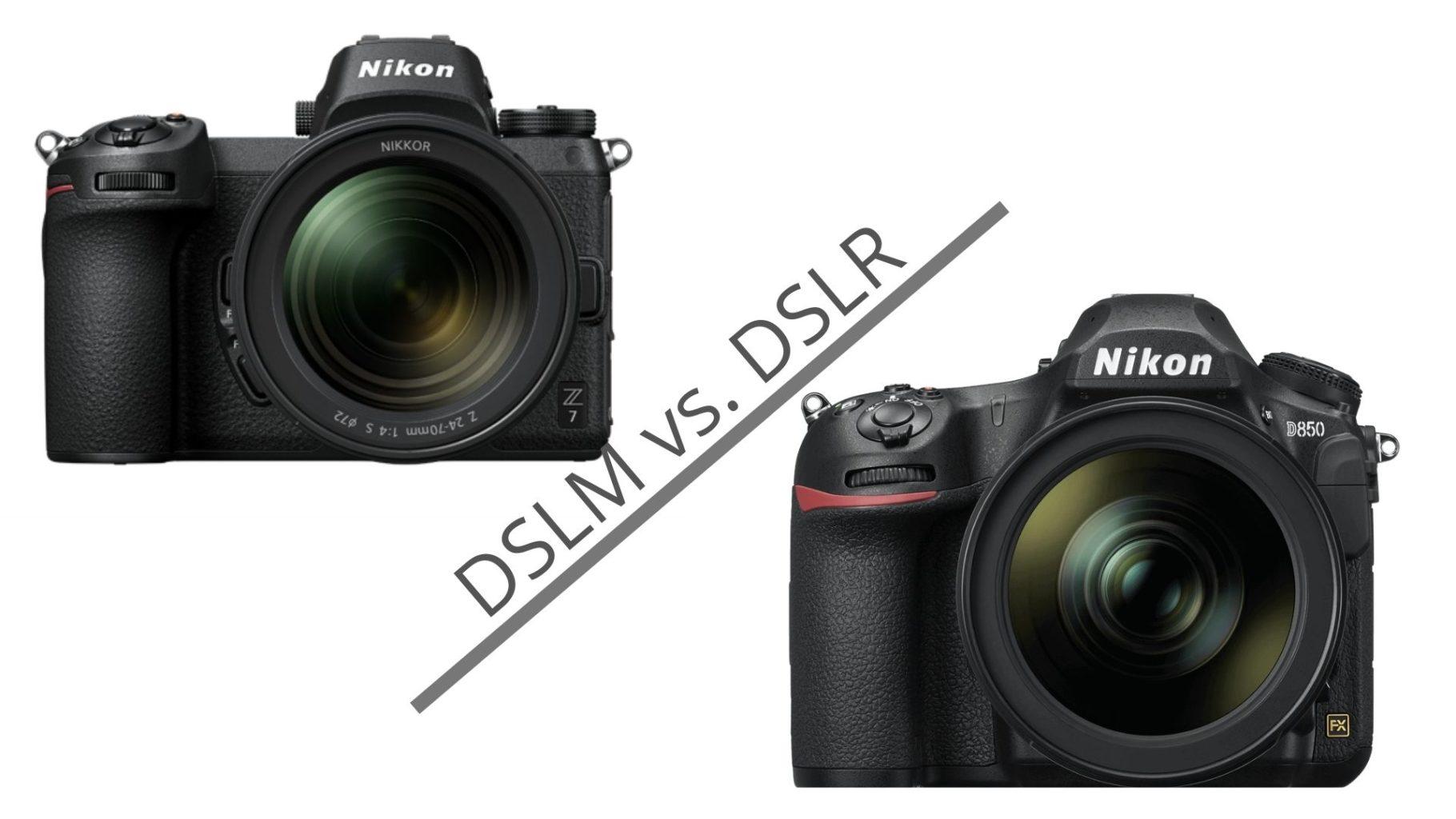 DSLR vs DSLM, die Unterschiede kurz erklärt.