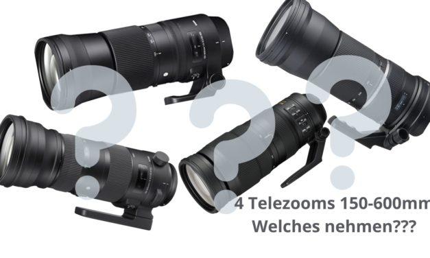 Telezooms 150-600 mm v. Sigma, Tamron und  Nikon, Vorstellung.