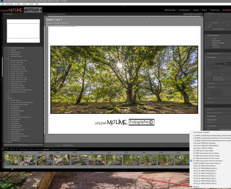 Lightroom Druckmodul Screenshot Stefan Mohme