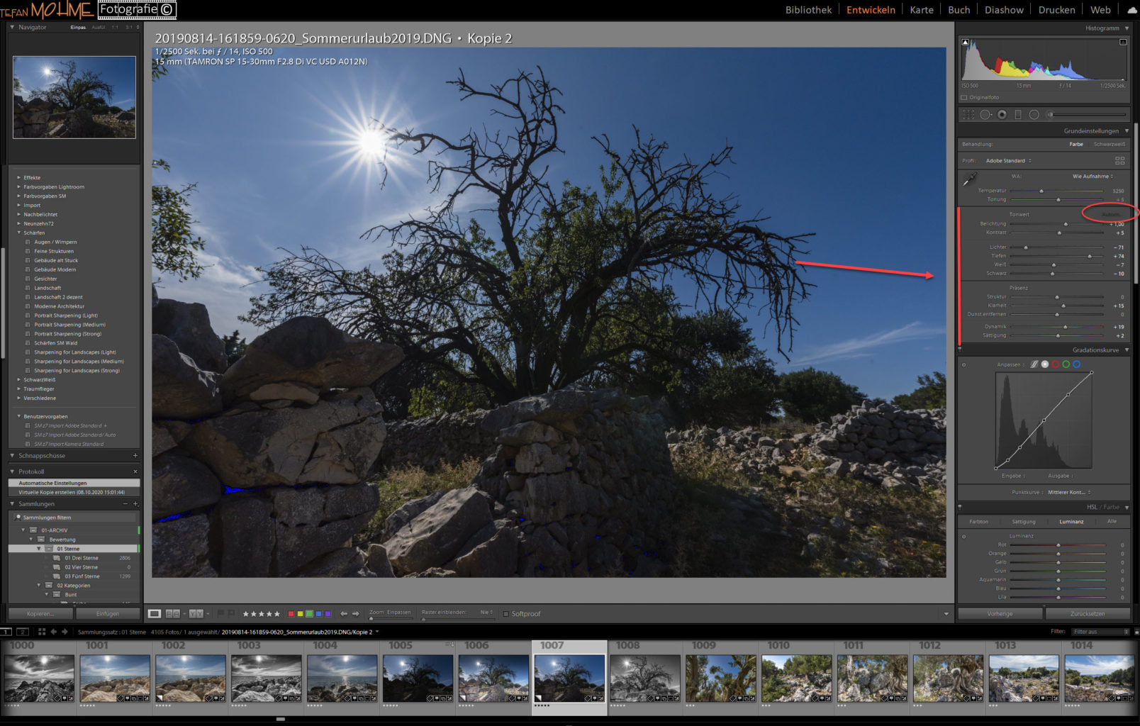 Making Off, Screenshot ,Lightroom