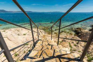 Kroatien, Strand,Treppe