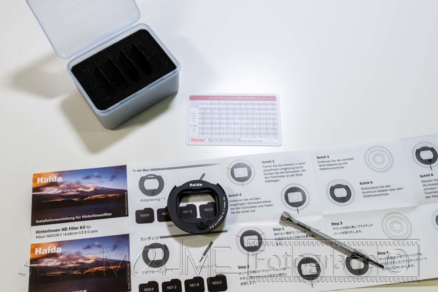 Nikon 14-24mmF/2,8 Objektiv Haida Rückfilterhalter