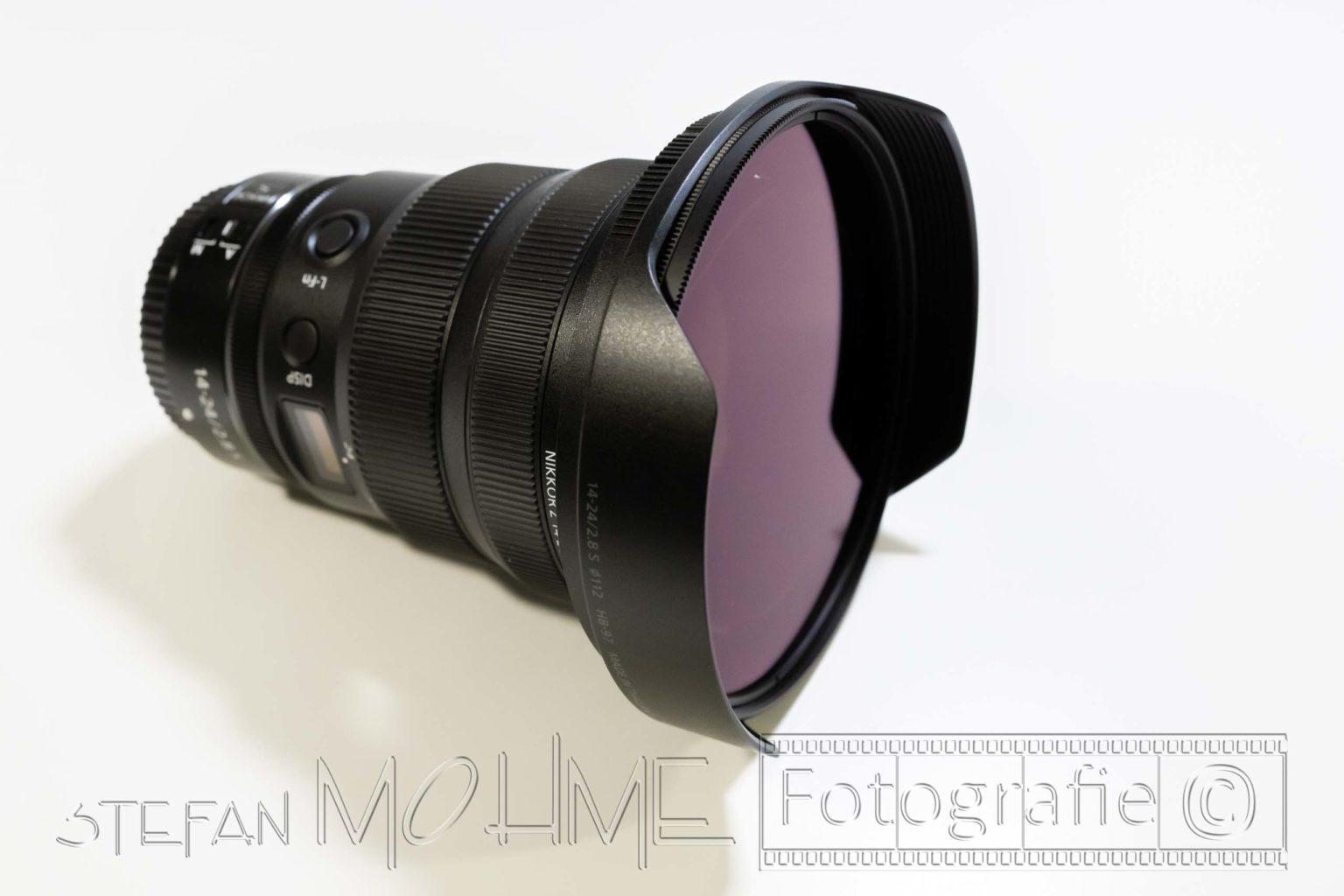 Haida Polfilter 112mm Gegenlichtblende Nikon 14-24mm F/2,8