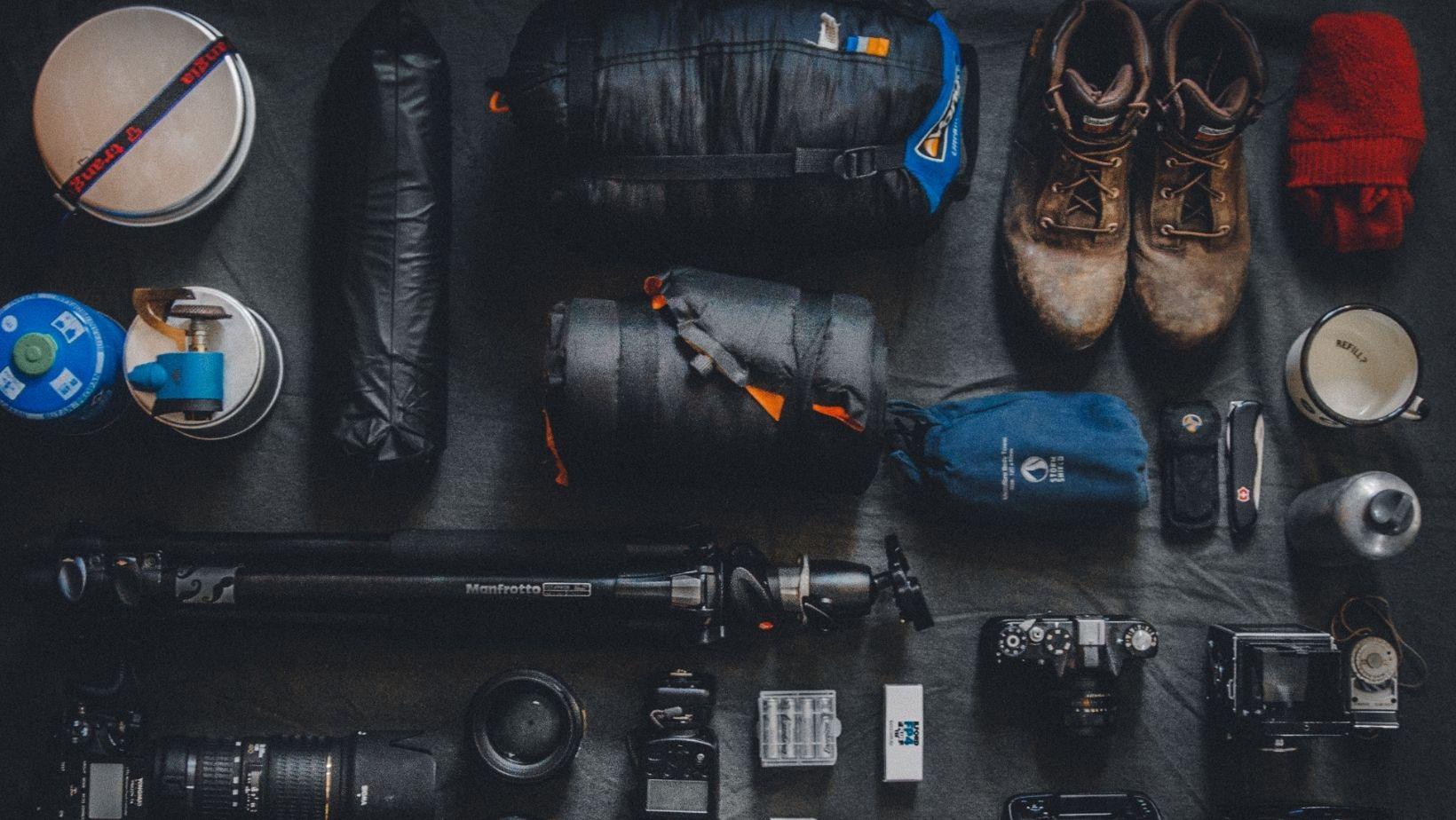 Fotoausrüstung, zum Wandern
