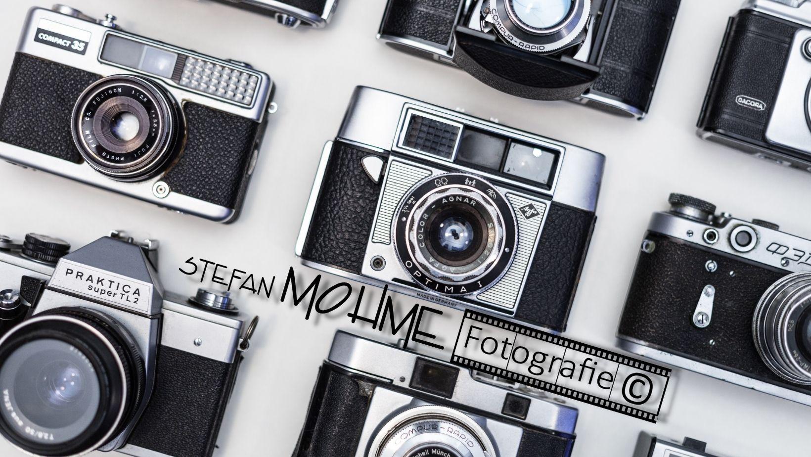 Diverse alte Kameras ,und Logo Stefan Mohme