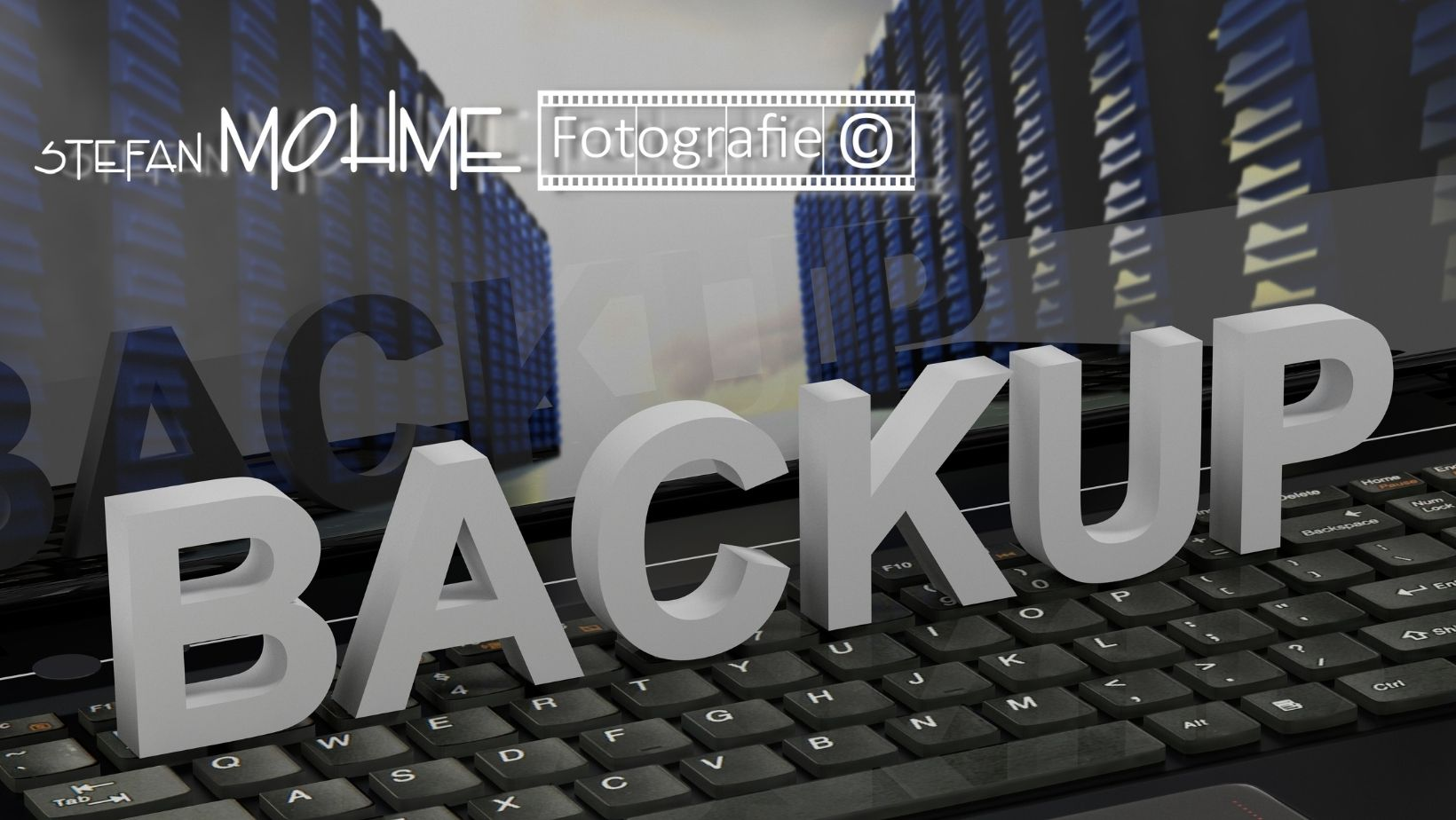 PC Backup, Logo Stefan Mohme,schwarzweiss