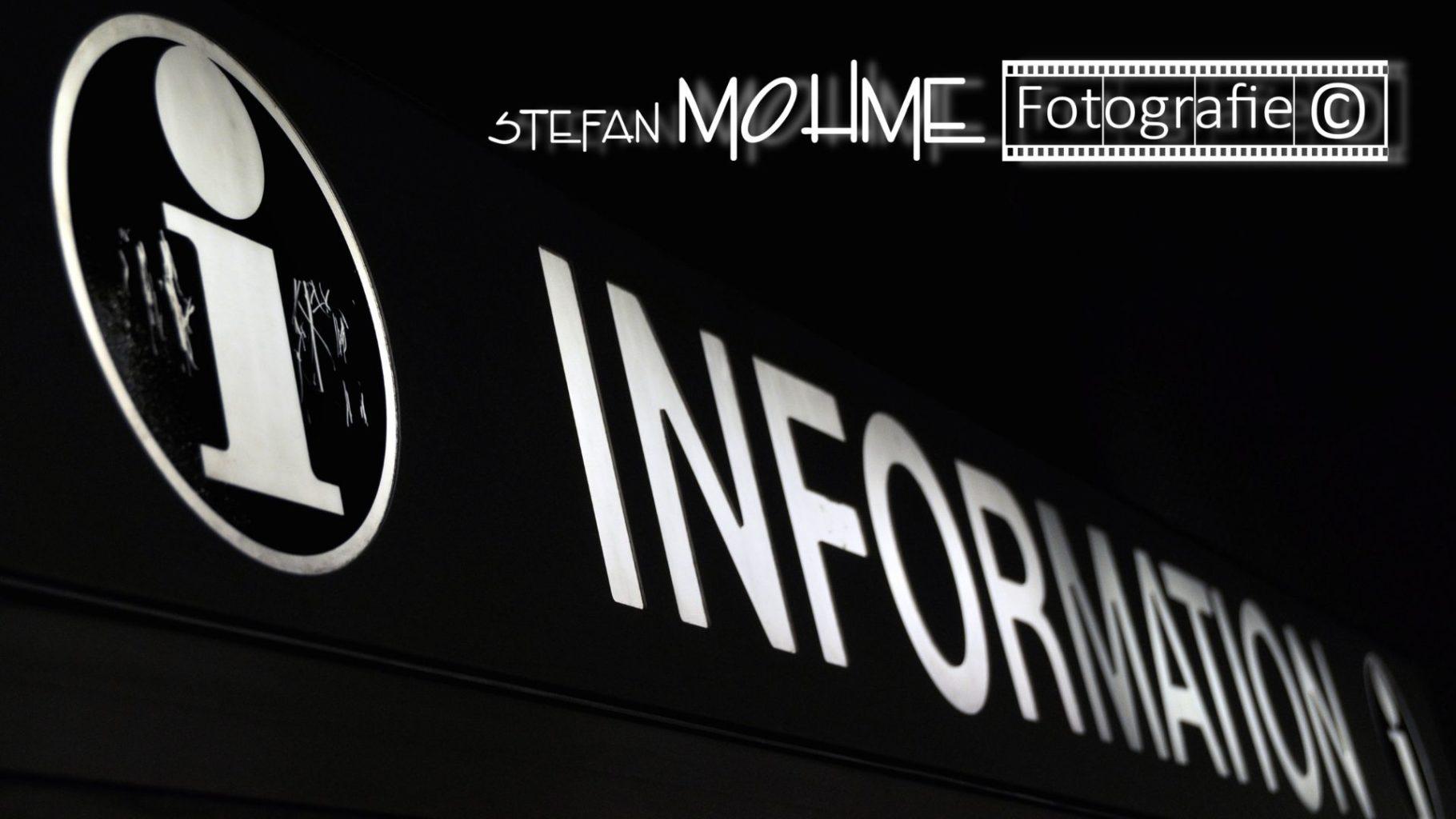 Infologo, schwarzweiss , logo Stefan Mohme