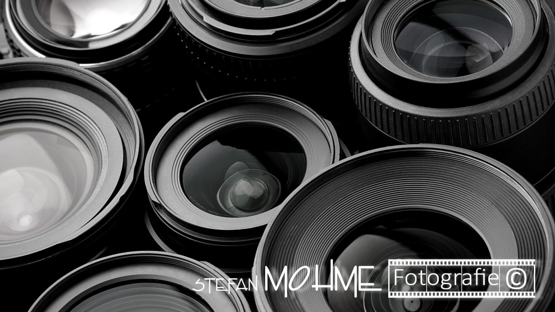 Objektive, diverse,schwarzweiss, frontlinsen