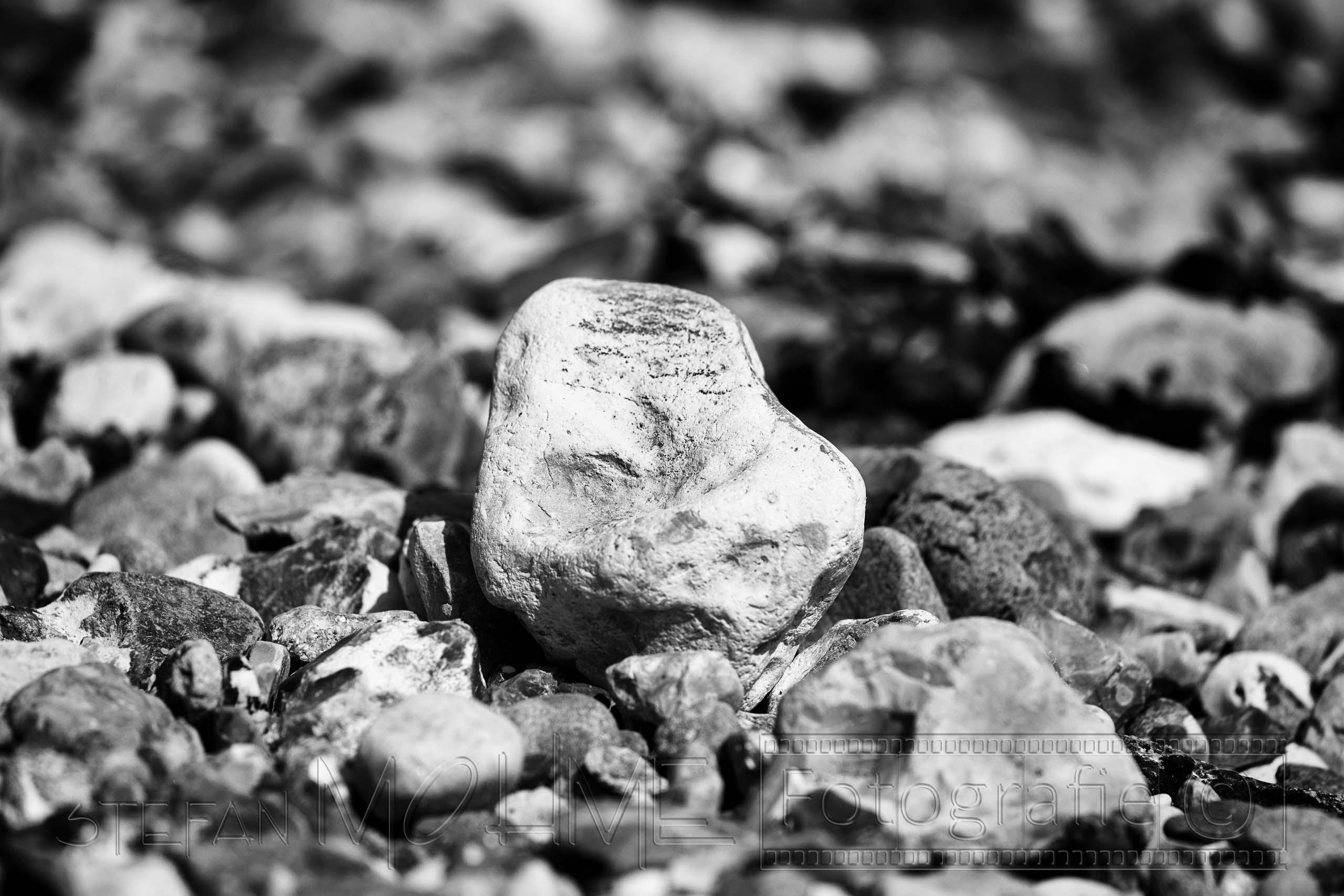 Steine,Strand , Schwarzweiss